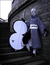 NARUTO Akatsuki Ninja Tobi Obito Madara Uchiha Cosplay Helmet Costume Full Set
