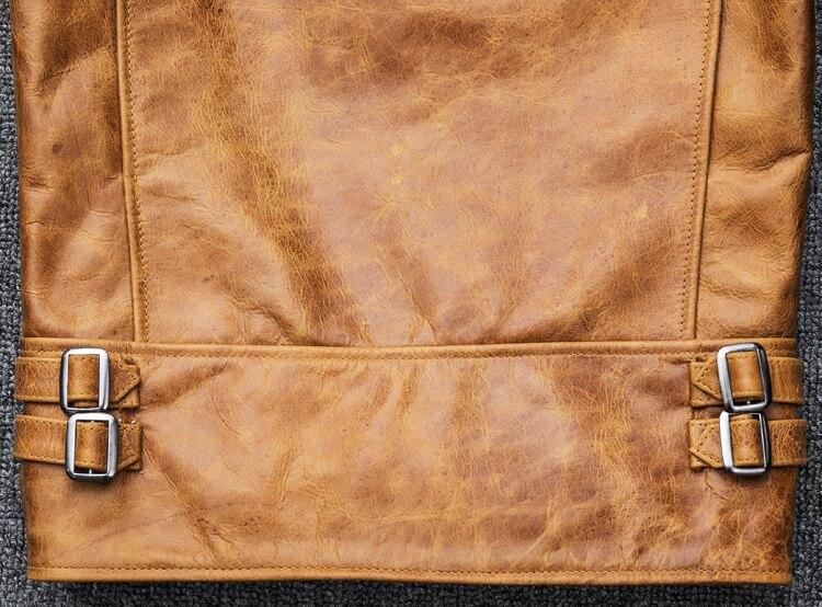 Cheap Casacos de couro legítimo