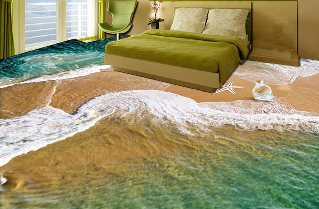Art vinyl vloeren luxe behang beach wave vloer d behang interieur