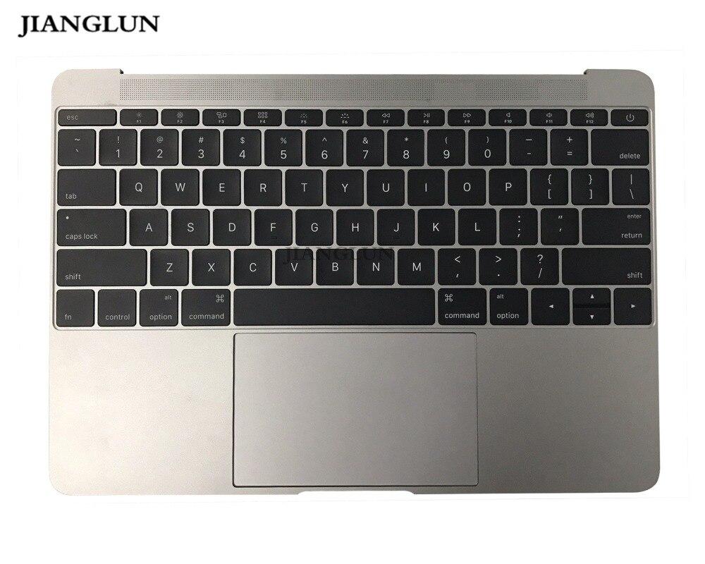 JIANGLUN pour Apple A1534 2015 an ordinateur portable palmrest topcase avec clavier de mise en page US avec pavé tactile