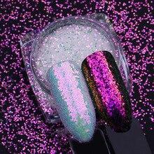 1 коробка 1 г Блестящие Блестки для ногтей блестящие радужные сломанные стеклянные хлопья пайетка хамелеона блестящая пудра