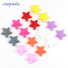 50Pcs/lot Silicone Beads Joepada Star Baby Teether BPA Free Teething Chew Necklace Toy