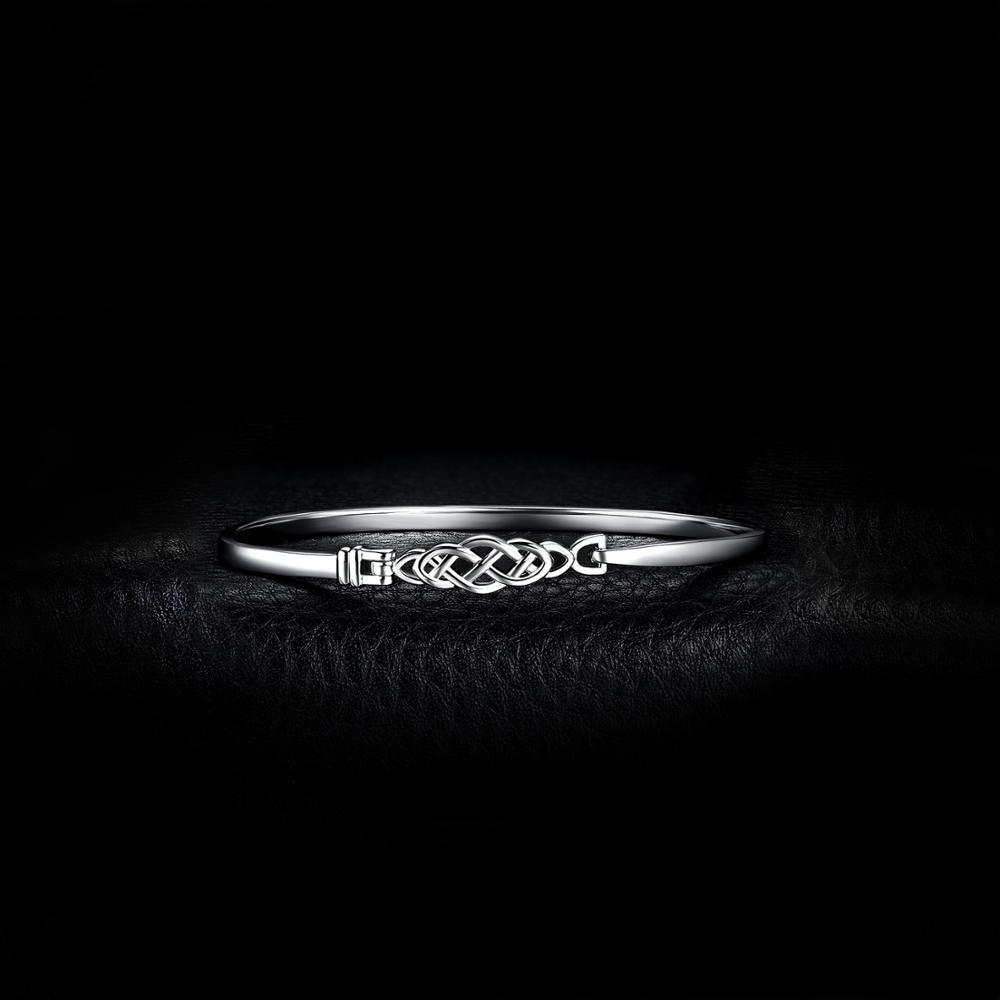 Image 2 - JPalace Crown Celtic Knot Bracelet 925 Sterling Silver Bangles  Bracelet Bracelets For Women Silver 925 Jewelry Making  OrganizerBracelets