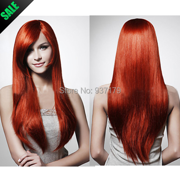 Jessica Rabbit Hairstyle Inspired Synthetic Red Wig Cosplay