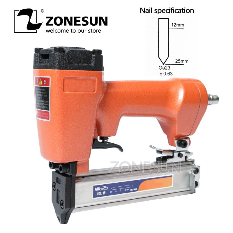 ZONESUN W625 Mosquito Pneumatic Nail Gun Air Stapler Stapling Machine For Furniture Woodworking Carpentry Decoration Carpenter