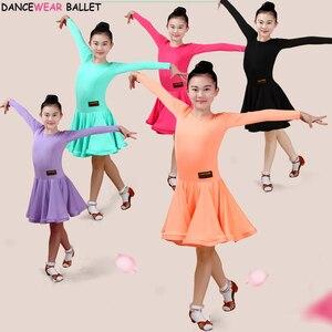 Image 3 - Vestido de baile de salón para niñas, vals, Tango, traje de baile latino, Salsa Bachata