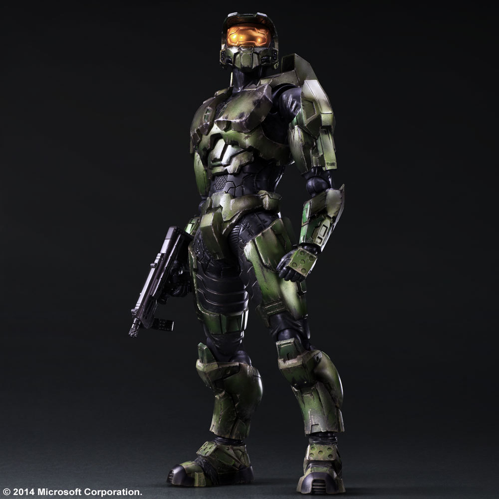HALO2 ANNIVERSARY EDITION PLAY ARTS KAI MASTER CHIEF 26cm PVC Action Figure Collection Toy Doll