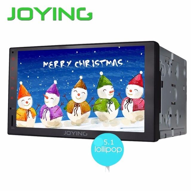 Joying 2 ГБ + 32 ГБ Новый Универсальный Android 5.1 Автомобиль Аудио Стерео GPS 3 Г Wi-Fi Bluetooth Радио Автомобильный Quad Шнура HD Мультимедийный Плеер