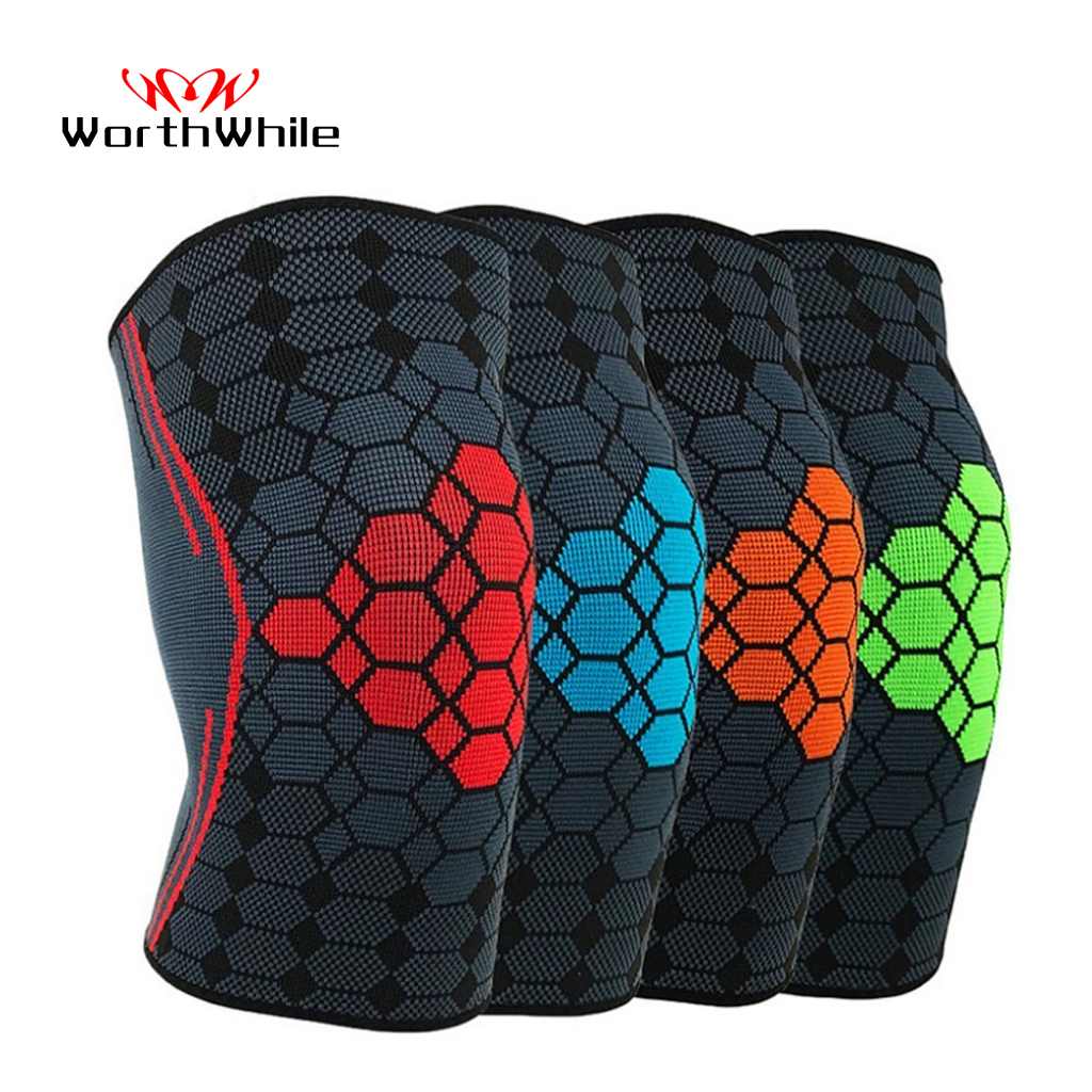 WorthWhile 1PC Sport Knee Pad Nylon Elastic Basketball Volleyball Kneepad Support Football Fitness Gear Brace Training Protector
