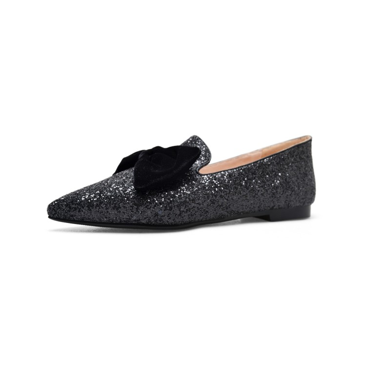 Original Intention New Gorgeous Women Flats Glitter Pointed Toe Flat Shoes  Black Blue White Silver Shoes Woman US Size 4 10.5-in Women s Flats from  Shoes on ... 628d429d0dfd