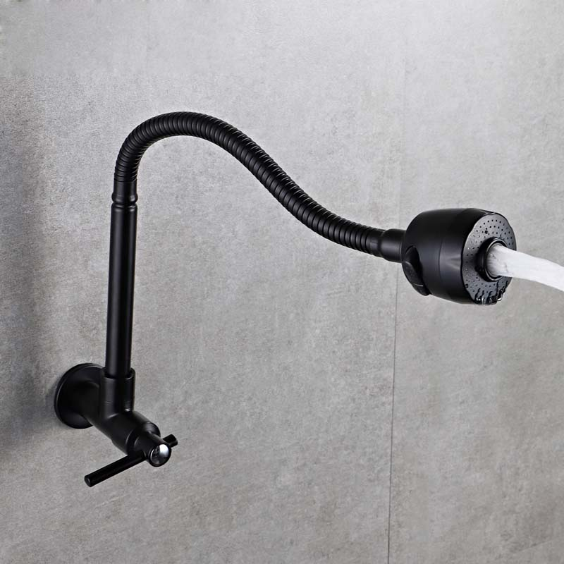 US $29.0 40% OFF|Wall Mount Kitchen Faucet Swivel Spout Sink Faucet Cold  Water Faucets Tap Dual Sprayers Bathroom Basin Faucets Vessel Tap-in  Kitchen ...