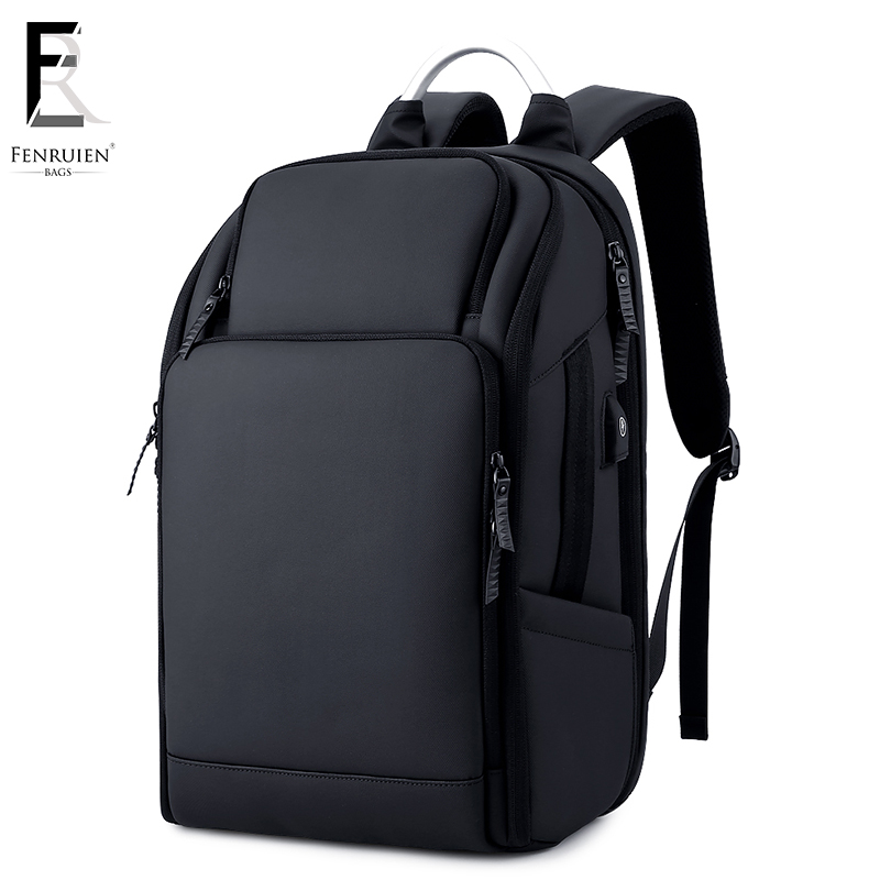 FRN бизнес для мужчин рюкзак черный Зарядка через usb Anti Theft ноутбук 17 дюймов мужской большой ёмкость мода путешествия рюкзаки