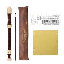 BS Alto Recorder 8 Loch Barock Stil Recorder Instrument Abnehmbare mit Finger Rest und Tragetasche Klassenzimmer Wind Musical ICH
