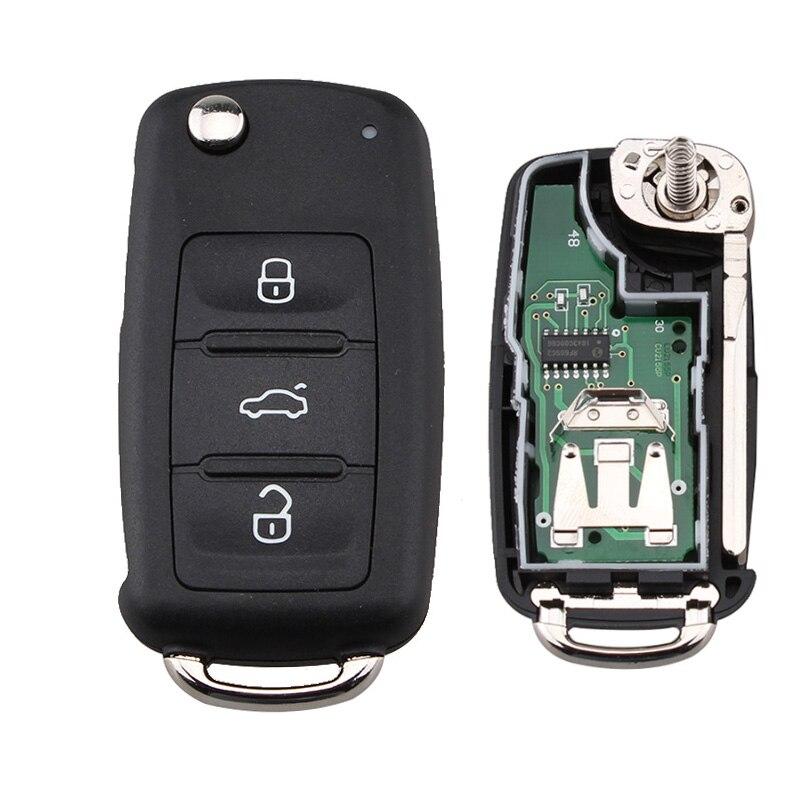 Prix pour 434 MHz ID48 Puce 5K0837202AD Voiture À Distance Clé pour VW Volkswagen GOLF PASSAT Tiguan Polo Jetta Beetle Hella 5K0 837 202 AD 202AD
