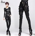 Fashionable Women's European Style Harem Pants Black Boots in 100% High-quality Stretchable Material