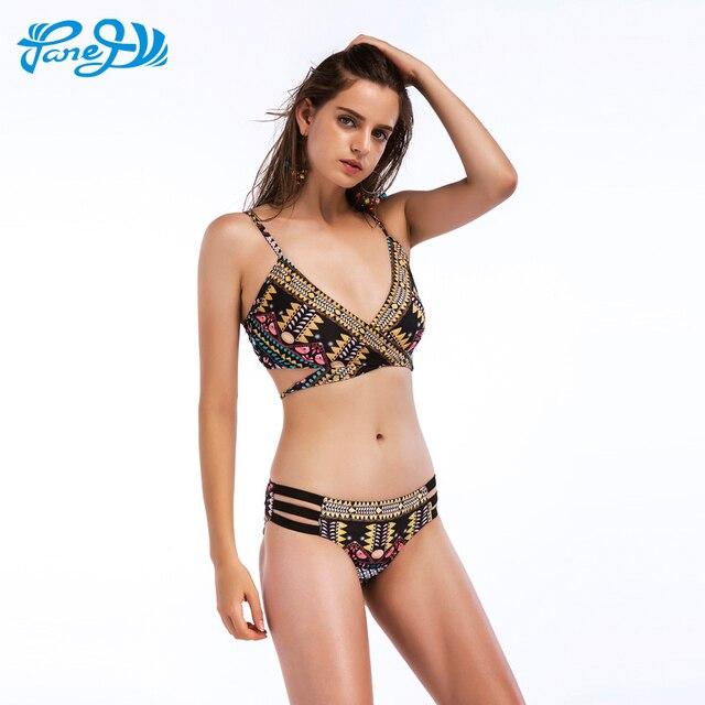 US $11 74 39% OFF|Panegy Sexy Bikinis Women Brazilian Swimsuit Criss Cross  Bandage Indian Bikini Set Summer Beach Low Waist Body Suit Monokini XL-in