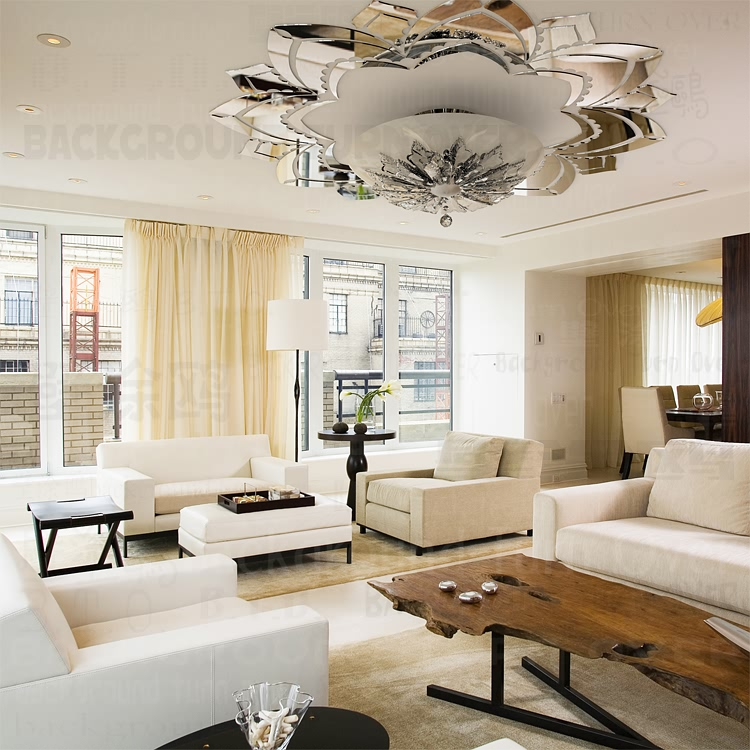 Ornate Decorative Acrylic Mirror Wall Stickers Flower Superb Mirrors On The Ceiling Living Room