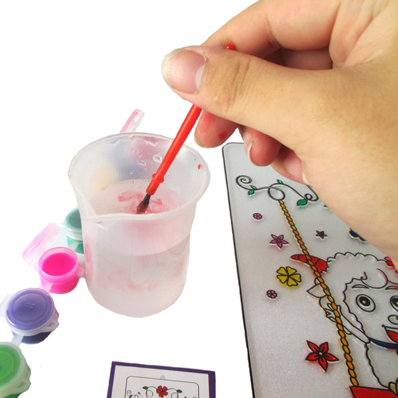 Magic Water Painting Book with Magic Pen Drawing Board Coloring Book for Kids Education Learning Toys for Children 2018 in Drawing Toys from Toys Hobbies
