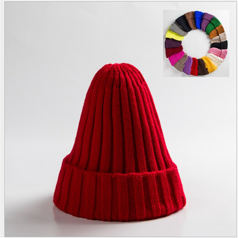 New Fashion Knitted Wool Hats Caps   Skullies     Beanies   Unisex Women men kids winter warm knit hat cap Campaniform Style   Beanie