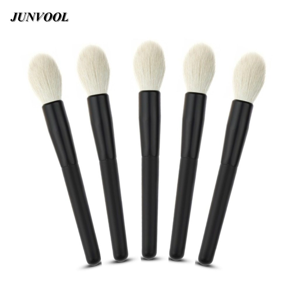 5pcs Soft Natural Bristles Makeup Brushes Pen Blending Uniform Blusher Brush Black Cosmetic Contour Make up Brush Beauty Tools