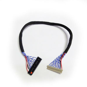 Image 3 - Universal LVDS Cable DF14 20 S6 20pin double Dual 2 ch 6 bit 20p 1.25mm for 12inch 15inch LCD panel