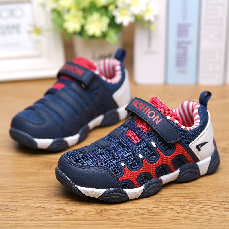 a01b9cd2a Mesh Breathable Children Boys Sport Shoes Fashion Brand Girls Leather  Sneaker Spring Autumn Outdoor Kids Running Shoes TX327-in Sneakers from  Mother   Kids ...