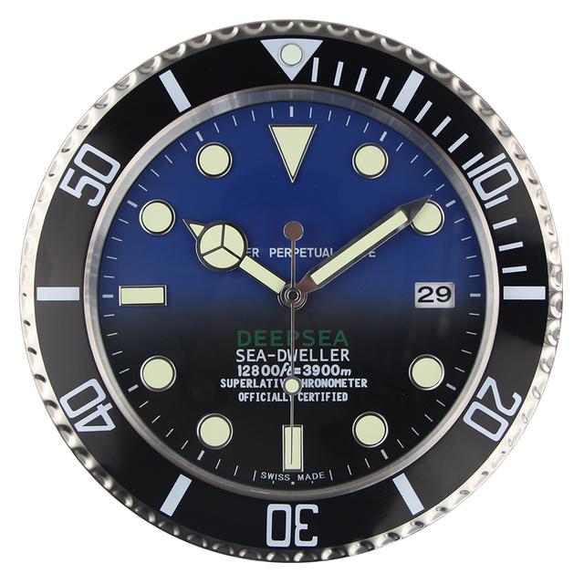 Luxury Design Wall Clock Metal Art Watch Clock Relogio De Parede Horloge Decorativo with Corresponding Logos