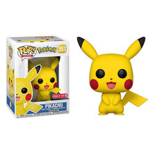 купить FUNKO POP Japanese Anime Pokemon Go #353 Pikachu Vinyl Cartoon Action Figure Toys Brinquedo Collection Model Kid Birthday Gifts дешево