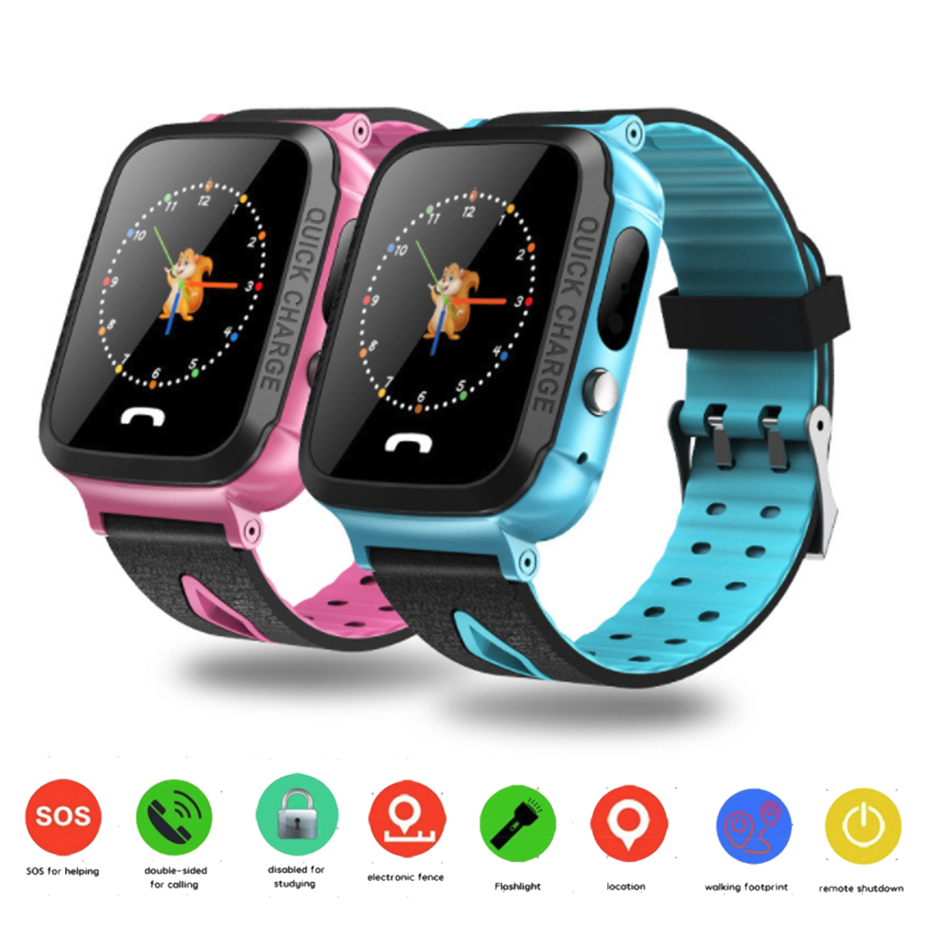 """Y34 Kids Smart Watch Anti Lost Child LBS SOS Positioning Tracker Daily Waterproof Support 2G SIM Card 1.44"""" Touch Screen Watch"""