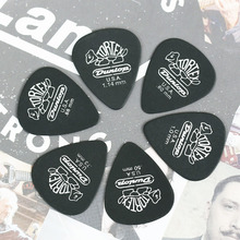 1 pc Dunlop Tortex Black Guitar Picks Thickness 0.5/0.6/0.73/0.88/1.0/1.14mm Bass Mediator Acoustic Electric Classic Accessories