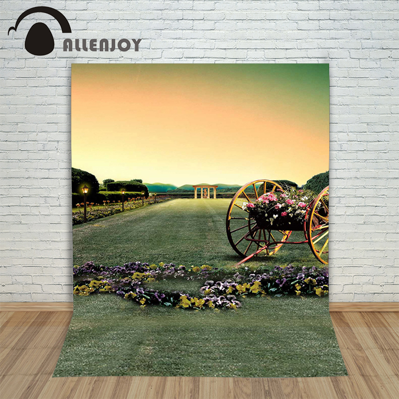 Allenjoy photographic background Flower meadow street backdrops children christmas fabric