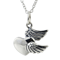 GNX0475 100 Real Pure 925 Sterling Silver Vintage Charming Heart Pendants Necklaces Fashion Punk Style Necklace