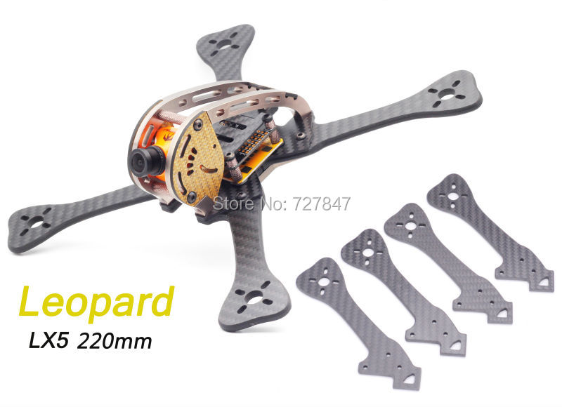 Mini FPV DIY 220 220mm quadcopter carbon fiber frame with Replacement  Arm 4mm  for GEPRC Leopard GEP-LX5 GEP Lx5 geprc gep zx4 gep zx5 gep zx6 170mm 190mm 225mm 4 axis 3k carbon fiber frame kit with 12v 5v pdb board for rc multicopter