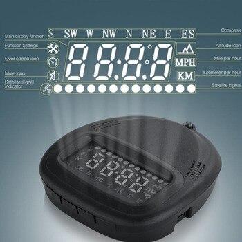 XYCING A1 Car Head Up Display proyector parabrisas 2,0 pulgadas HUD GPS advertencia de velocidad Auto velocímetro Overspeed alarma