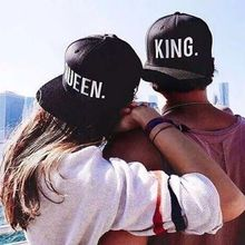 Summer Autumn Letter Printed Black Embroidery Lovers Hip hop Caps KING QUEEN Snapback Acrylic Couple Baseball