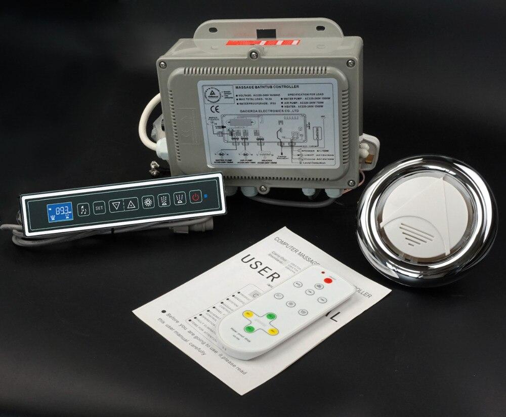 Sistema de control de bañera de masaje, controlador de hidromasaje lteclado 220 V opetion GD 7001B-in Calentadores de patio from Hogar y Mascotas    1