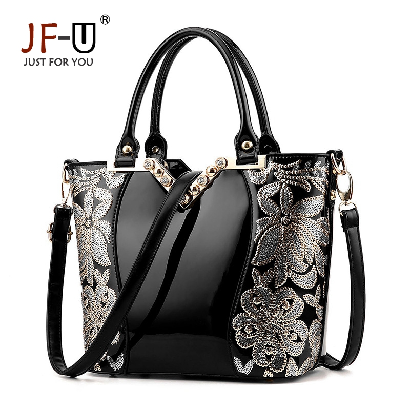 ФОТО JF-U 2017 Fashion brand women messenger bag Female Women Bags Shoulder Bags Appliques Flowers Crossbody Bag For Women