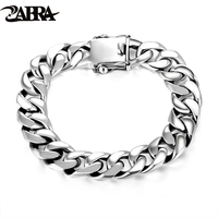 Skills Old Silversmith 925 Silver Bracelet Male Curb Chain Widened Bold Bracelet Male Money Jewelry Fashion