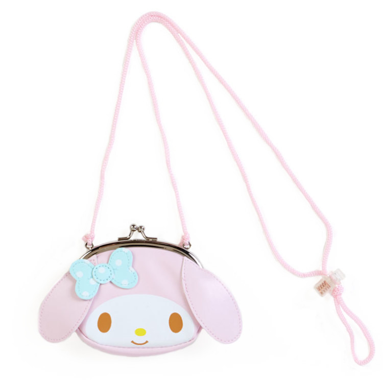d5531d52b0b5 Cute Cartoon My Melody Hello Kitty PU Leather Mini Messenger Bag Crossbody  Bags for Baby Girls Shoulder Sling Bag Hasp Coin Purse Wallet Size   11CM(length) ...
