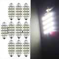 New 10 PCS 16 Torpedo Car Bulb LED SMD 3528 42 mm - White