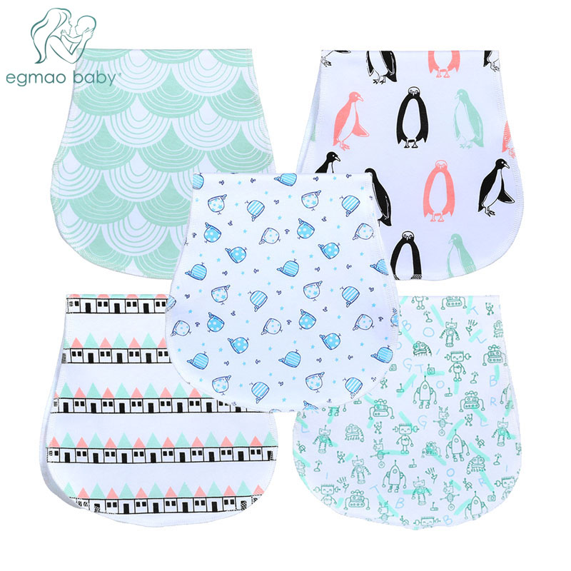 100% Organic Cotton Bibs Baby Burp Cloths For Newborns Soft And Absorbent Towels Burping Rags For Newborns Baby Shower Gift Set(China)