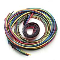 55 м набор новых Ассорти термоусадочных труб обмотка кабеля трубки пакет 11 размеров 6 цветов