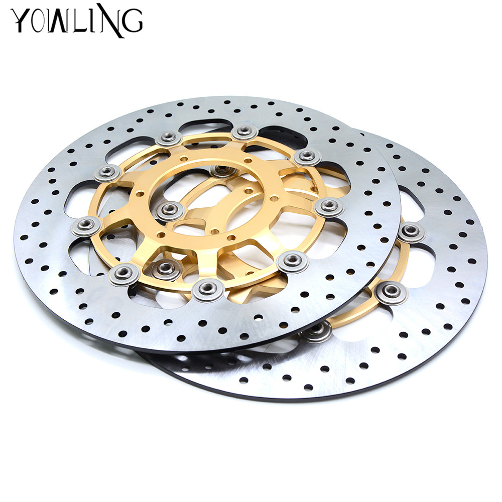 Motorcycle Parts Accessories Front Floating Brake Discs Rotor for HONDA CBR1000 CBR 1000 2006 2007 for HONDA CBR600 2007-2013 starpad for lifan motorcycle lf150 10s kpr150 new front brake discs accessories