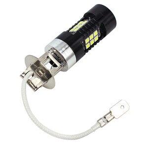 Image 3 - Glühbirnen Für Autos 2Pcs Led nebelscheinwerfer Für Auto 12V DC H3 3030 21 LED Lichter Weiß 6500K Auto Nebel Kopf Licht Lampe Scheinwerfer