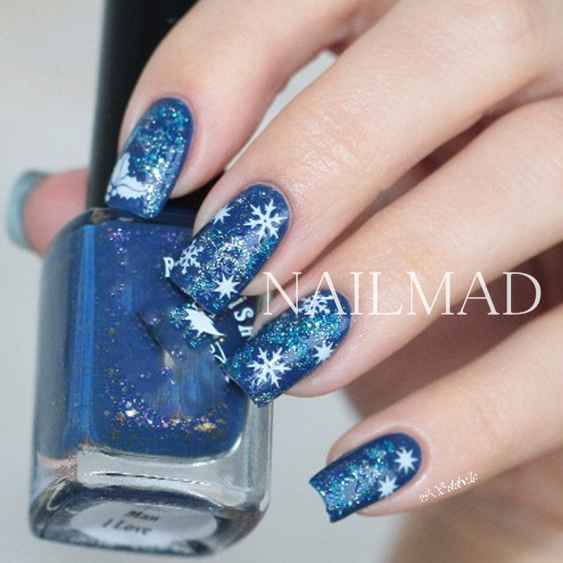 1 Sheet Nailmad Snowflake Nail Water Decals Christmas Nail Transfer
