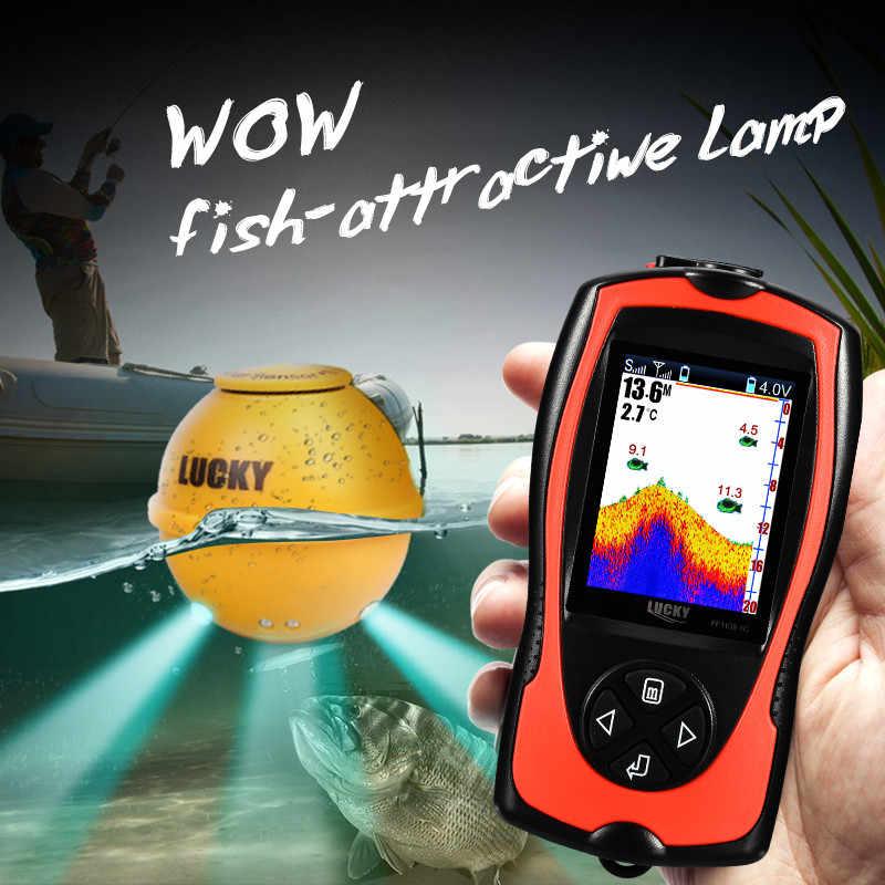 Fortunato Fish Finder Portatile Sonar Sensor Ecoscandaglio Schermo LCD Accessori Per la Pesca Ecoscandaglio Barca Mare di Ghiaccio di pesca FF1108-1CWLA
