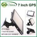 """Wince GPS del coche de 7 pulgadas MTK 800 MHz, 256 M, 8G, FM, MP3, MP4, Wince Navigator 7 """"GPS ofrecen nuevos mapas"""