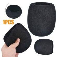 1PC Dustproof Windproof Microphone Foam Cover Headset Sponge Windscreen Mic Black Soft Accessories