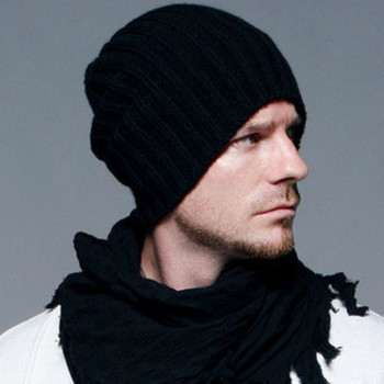 New  Men and Women Unisex Casual Kniting hat wool Winter Hat Woollen Stocking Cap
