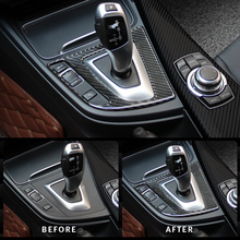 For BMW 3 4 Series 3GT F30 F31 F32 F34 Accessories Carbon Fiber Car styling Inner Center Console Gear Shift Box Panel Cover Trim